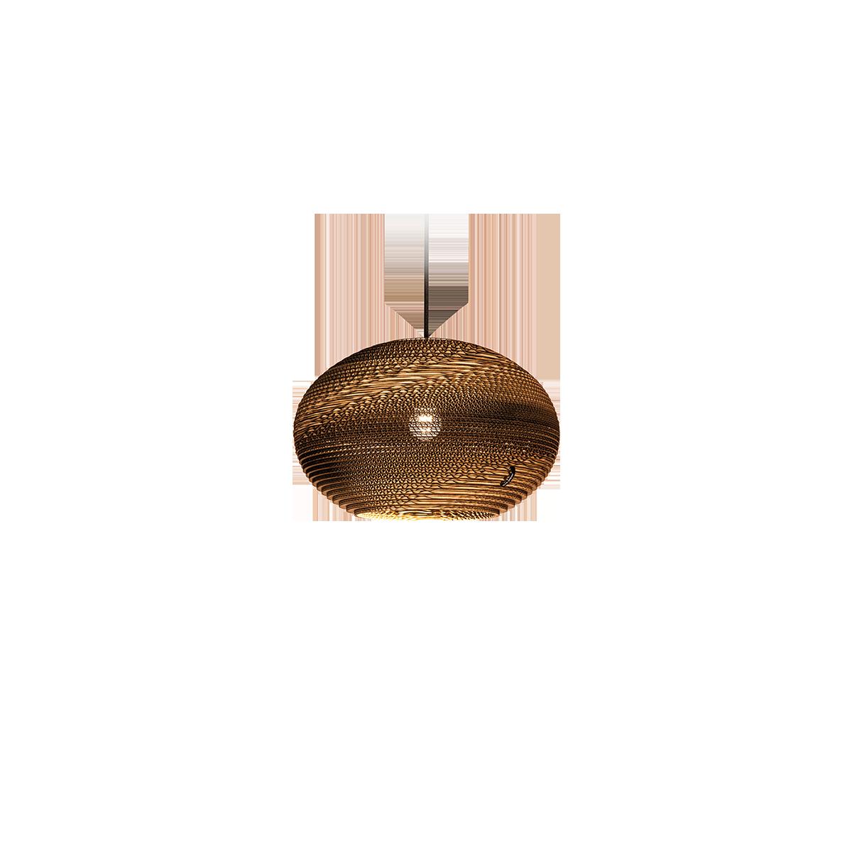 kartonnen hanglamp