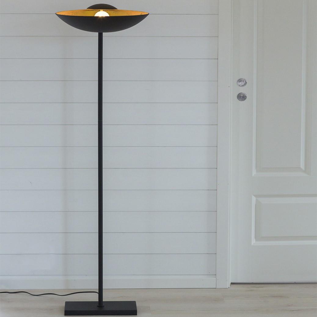Sfeervolle lamp mat zwart goud knik