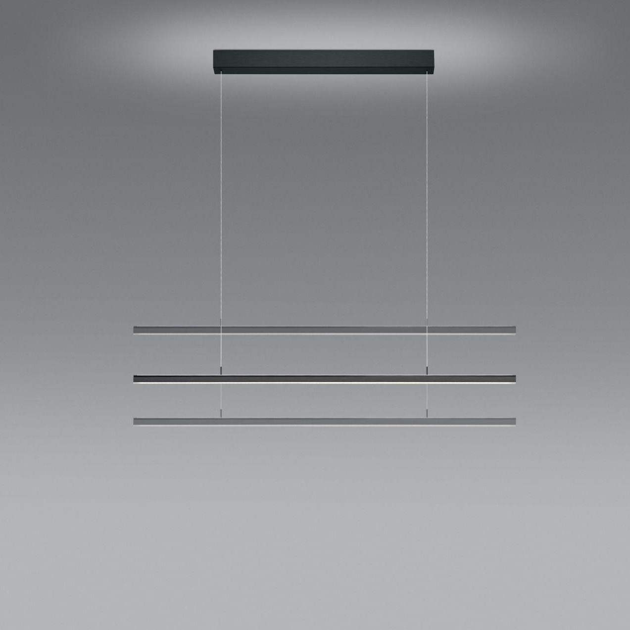 Hanglamp Bankamp Lightline FLEX 3 Up-Down Antraciet